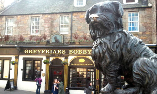 Escultura de Bobby de Greyfriars en Edimburgo