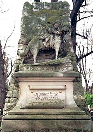 Monumento a Barry, el san bernardo