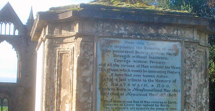 Boatswain, el perro de Lord Byron